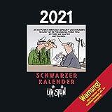 Uli Stein – Schwarzer Kalender 2021: Monatskalender für die Wand: Wandkalender