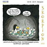 Skorpion Mini 2022: Sternzeichenkalender-Cartoon - Minikalender im praktischen quadratischen Format 10 x 10 cm.