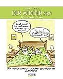Widder 2021: Sternzeichenkalender-Cartoonkalender als Wandkalender im Format 19 x 24 cm.
