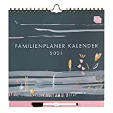 Boxclever Press Familienplaner 2020 2021. Wandkalender 2020 2021, Wochenplaner mit 6-Spalten-Layout und vielen Extras. 16-monatiger Kalender 2020 2021 Wandkalender von August '20 bis Dezember '21