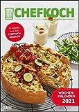 Chefkoch Wochenkalender 2021 – Küchen-Kalender – mit Notizfeld – pro Woche 1 Rezept – Format DIN A4 – Spiralbindung