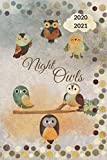 Night Owls 2021 Planer: Terminplaner/ Eulen/ Kalender/ 2020 2021/ Collegetimer / Wochenplaner/ 6 * 9 '/ Planer/ tolles Geschenk für Frauen, Männer, Freunde oder Kollegen
