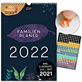 A4 Familienplaner 2022 Kalender: 21x29,7cm | 5 Spalten | 230 Sticker | FLORAL | Wandkalender, Familienkalender, Monatskalender, Jahresplaner + 6 Mon. Jul-Dez 21, Design, Style, Blume, Art, Kunst, Deko