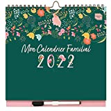 (auf Französisch) Boxclever Press 'Mon Calendrier Familial' Kalender 2021 2022. Familienplaner 2021 2022 mit 6 Spalten. Wandkalender 2021 2022 von Mitte Aug.'21-Dez.'22 mit Tasche, Erinnerungsstickern