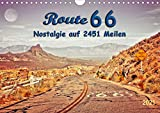 Nostalgie auf 2451 Meilen - Route 66 (Wandkalender 2021 DIN A4 quer)