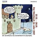 Steinbock Mini 2021: Sternzeichenkalender-Cartoon - Minikalender im praktischen quadratischen Format 10 x 10 cm.