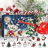 wojonifuiliy Weihnachten Adventskalender Sachen Kinder, Weihnachts-Countdown-Kalender-Spielzeug-Set, Christmas Advent Calendar for Kids, Weihnachtsbaumschmuck Set Geschenk (A-03)