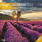 Magie des Lichts 2021, Wandkalender / Broschürenkalender im Hochformat (aufgeklappt 30x60 cm) - Geschenk-Kalender mit Monatskalendarium zum Eintragen