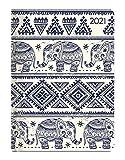 Ladytimer Elephants 2021 - Elefant - Taschenkalender A6 (11x15 cm) - Weekly - 192 Seiten - Notiz-Buch - Termin-Planer - Alpha Edition