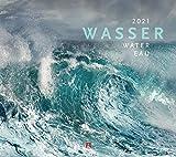 Wasser Kalender 2021, Wandkalender im Querformat (54x48 cm) - Landschaftskalender / Naturkalender