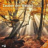 Zauber des Waldes 2021, Wandkalender / Broschürenkalender im Hochformat (aufgeklappt 30x60 cm) - Geschenk-Kalender mit Monatskalendarium zum Eintragen