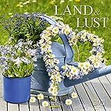 Land & Lust 2021: Broschürenkalender mit Ferienterminen. Landleben und Gärten. 30 x 30 cm