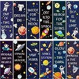 36 Stück Magnetische Lesezeichen Sternenhimmel Thema Magnetische Seiten Markierungen Positive Magnetische Seitenclips Planet Lesezeichen für Schüler Lehrer Lesen Schule Lieferungen